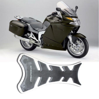Black Carbon Fiber New Motorcycle Tank Pad Sticker - 3 .