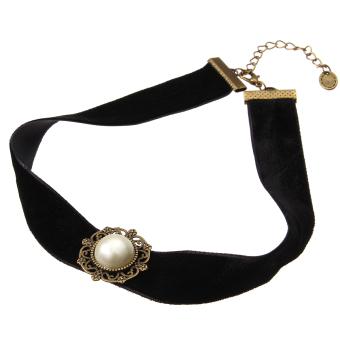 Black Gothic Velvet Cord Choker Charm Celebrity Necklace PendantRetro Boho Gift - 2