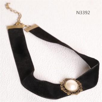 Black Gothic Velvet Cord Choker Charm Celebrity Necklace PendantRetro Boho Gift - 3