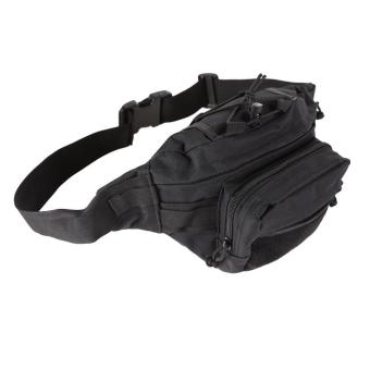 Black Outdoor Military Tactical Waist Pack Shoulder Bag Molle Camping Pouch - 3
