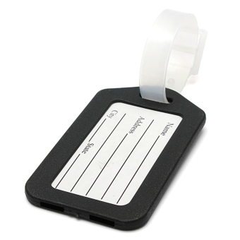 Black Plastic Luggage Baggage Tags Label Tag Striped Bag Tags - picture 2