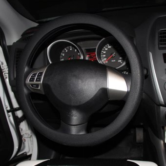 Black Soft Silicone Auto Car Steering Wheel Cover Shell - intl
