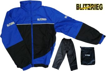 Blitzkrieg(R) MJ-Series MJ-55 Motorcycle Ultra Durable RainCoat &Jacket Set With Pants Touring (Blue) Price Philippines