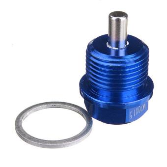 Blue M20 x 1.5 Magnetic Oil Drain Sump Plug Filter For SUBARU IMPREZA WRX STI - 4