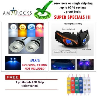Blue Motorcycle LED Light Eagle Eye Universal DRL Light Bulb for Suzuki Skydrive 125