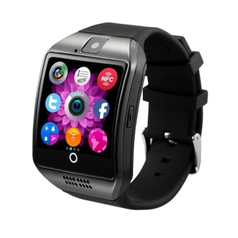 Bluetooth Smart Wrist Watch Phone Q18 with Camera FM Radio TF SIMCard Slot Sleep Monitor Sedentary Reminder Voice Record - intl