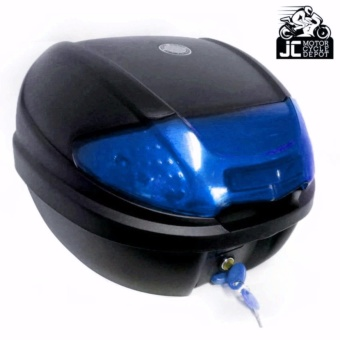 BMX Motorcycle Scooter Top Box Tail Trunk Storage Luggage Givi (Blue)