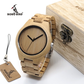 BOBO BIRD WG27 Unisex Bamboo Watch Men Quartz Watches Full Bamboo Brand Designer as Best Gift For Men Women Gift Wood Box G27 - intl Price Philippines