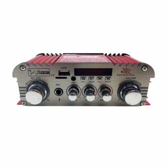 Bosca C-803 USB/SD/FM Stereo Power Amplifier with Microphone Input1000W (Red) #0124 - 2