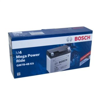 Bosch Motorcycle Battery M4 Mega Power Ride GM7B-4B Kit Bosch 12v7ah (Black) Price Philippines