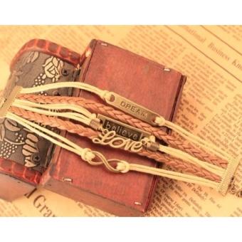 Braided Bracelet Vintage Bracelet Friendship Bracelet Couple Bracelet Layered Bracelet Dream Bracelet Believe Bracelet Love Bracelet Infinity Bracelet Gift Bracelet Unisex Bracelet Charm Bracelet - 3