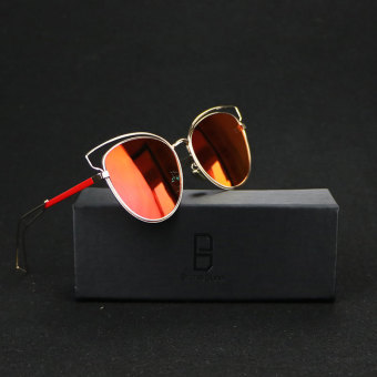 Brand Unisex Retro Aluminum Sunglasses Polarized Lens Vintage Eyewear Accessories Sun Glasses For Men/Women (red) - intl