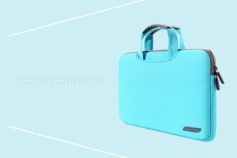 Breathable Fabric Sleeve Case Bag for 15.6 Inch MacBook Pro Notebook Computer - Cyan - intl