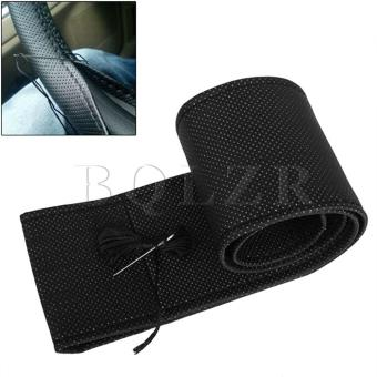 Breathable Leather DIY Car Steering Wheel Cover? Black