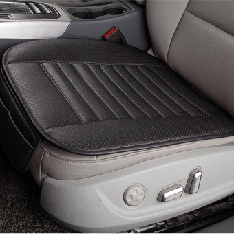 Breathable PU Leather Bamboo Charcoal Car Interior Seat CoverCushion Pad for Auto Supplies Office Chair Color:Black - intl