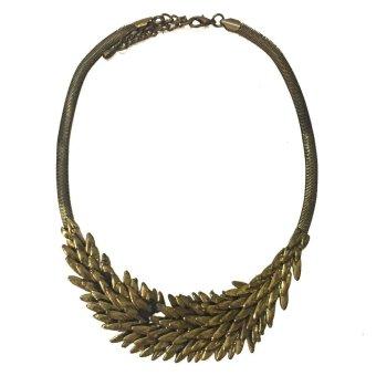 Bronze Plated Leaf Necklace (Gold)