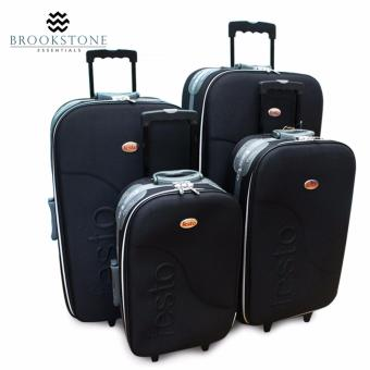 "Brookstone Festorrific Travel Luggage Set of 4 Size(20""/24""/28""/32"") - Black Price Philippines"