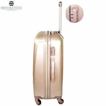 Brookstone Holli Crosley Lightweight Plain Hard Case 4 Wheel 2in1 Travel Luggage (830) - 4