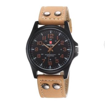 ... Buy 1 Get 1 Free Swiss Army Men s Watches Leather Strap Watch Black Light