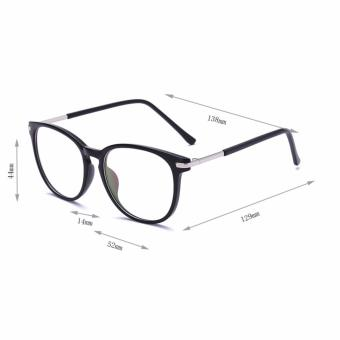 [Buy 1 Get 1 Freebie] AORON Brand Retro Reading Glasses Anti-fatigue Computers Glasses Anti-blue Light Eyeglasses 3631(Black) - intl - 2