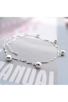 Buytra Bell Anklet Bracelet 925 Silver Plated Silver - 2