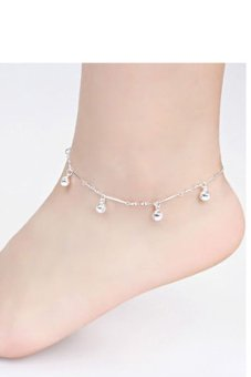 Buytra Bell Anklet Bracelet 925 Silver Plated Silver