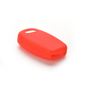 Buytra Car Key Case Cover Silicone For Audi A3 A4 A6 Tt Q7 R8 Red - picture 2