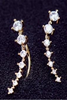 Buytra Women Crystal Earrings Rhinestone Gold