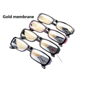 BXT Classic Unisex Womens Mens UV Radiation Protection SafetyEyeglasses Anti Blue Ray Anti-reflective Anti-glare Rectangle BlueLens Computer Reading Gaming Plain Glasses Eyewear Spectacles -intl - 5