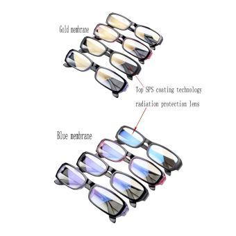 BXT Classic Unisex Womens Mens UV Radiation Protection SafetyEyeglasses Anti Blue Ray Anti-reflective Anti-glare Rectangle BlueLens Computer Reading Gaming Plain Glasses Eyewear Spectacles -intl - 4