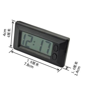 C33 Auto Car Mini Digital Interior LCD Screen Clock AutomotiveClock Calendar electronic meter - intl - 2