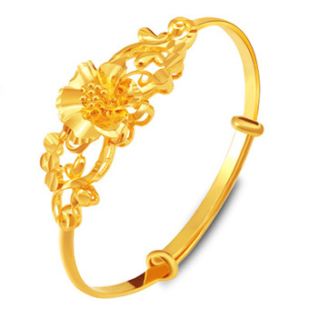 CADIS 24K Golden With The True Gold Plated Hight Quality FlowerBracelet - intl