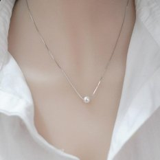 Candy Online 925 Silver Pearl Necklace Simple Pendant Jewelry Xl002