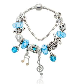 Candy Online Europe and the United States trendy 925 Silver Pandora charm bracelet crystal bracelet B15336