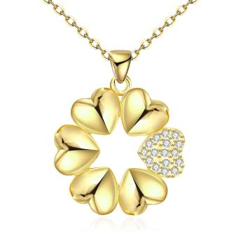 Candy Online Europe Fashion Women's Gold Heart-shaped PendantNecklace Jewelry KZCN092-A