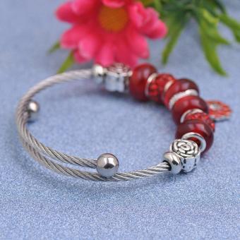 Candy Online Korea 925 Stainless Steel Silver Pandora Charm Crystal Bracelet PDA-156 - 3