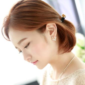 Candy Online Korean Post-hanging Zircon Stud Earrings JewelryED216(Rose Gold) - 4