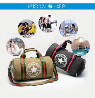Canvas Men Travel Carry on Luggage Round Duffel Bags Large Weekend Bag Overnight - intl - 3