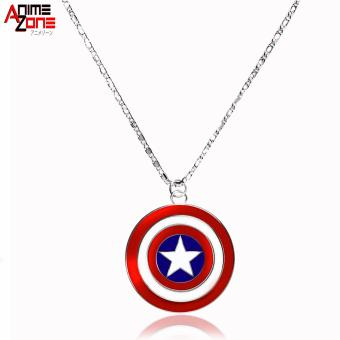 Captain America Fashionable Pendant Necklace (Silver/ Red)