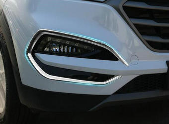 Car ABS Chrome front Fog Light Cover trim for Hyundai Tucson2015-2016