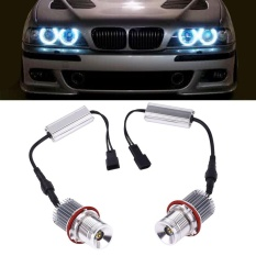 Car Auto 3500LM White LED Light Angel Eye Halo Ring Lamp 40W For BMW E39 -