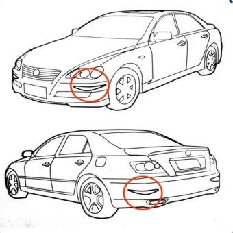 Car Body Bumper Anti-rub Strips Auto Exterior Scratches ProtectorCar Decoration Corner Thickening Crash Bar PVC 2 pcs- Black - intl - 4
