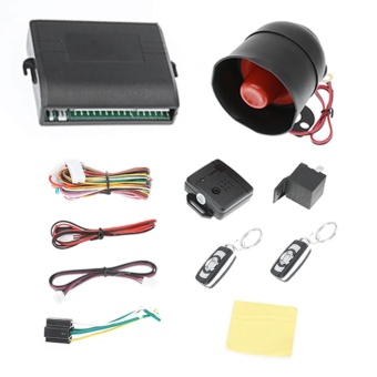 Car Burglar Alarm Protection Keyless Security System 2 Remote Controls - intl