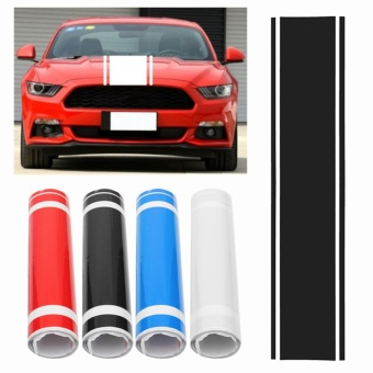 Car Decal Vinyl Graphics stickers Hood Dual Racing Stripe for Mustang #938 - intl