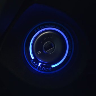 Car Light LED Lgnition Switch Cover Ring Key Ring DecorationStickers - intl