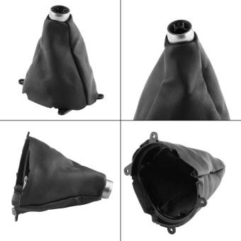 Car Manual PU Leather Gear Gaiter Shift Shifter Boot Replacementfor Honda Civic 2005-2011 - intl - 2