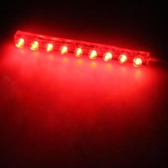 Car Motorcycle Red 9 LEDs Strip Waterproof Light Bulb 12V 35CM - picture 2