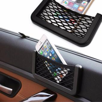 Car Net Bag Organizer Net Pocket with Adhesive Visor Car StylingBag Storage for tools Mobile phone Price Philippines
