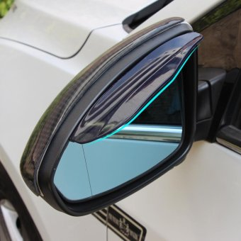 CAR Rear View Side Mirror Rain Board Visor Shade Eyebrow RainShield Guard (Black) - intl