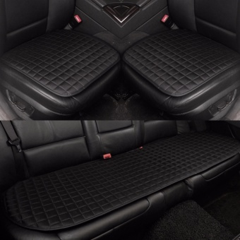 Car Seat Cushion,Front and Rear Row,Non-slip Fabric,No Installation,Interior Accessories,Black - intl